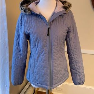Athleta XS Hooded Coat Periwinkle In EUC Lined